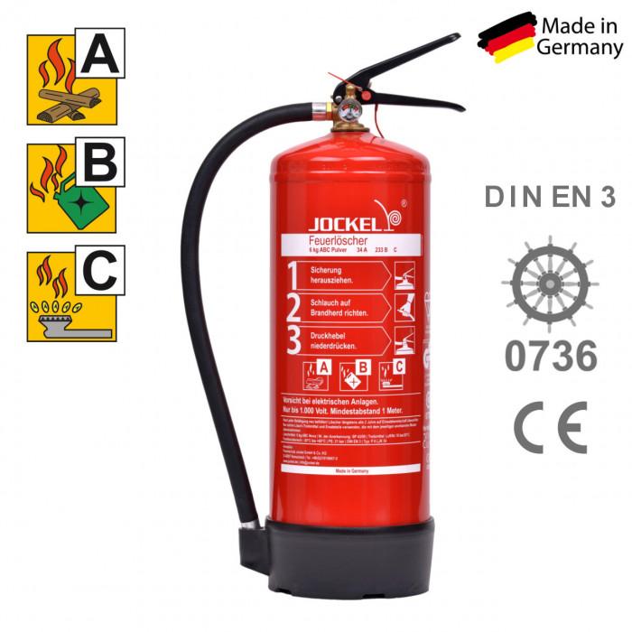 Super ABC Pulverfeuerlöscher 6 kg mit Manometer | RauchmelderShop OD76